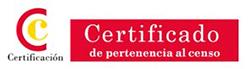 Certificado de pertenencia al censo