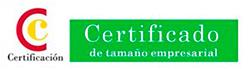Certificado de tamaño empresarial