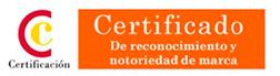 Certificado de reconocimiento y notoriedad de marca