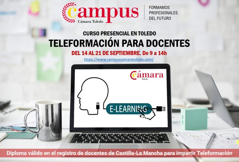 Campus Cámara Toledo ofrece un curso de Teleformación para docentes.