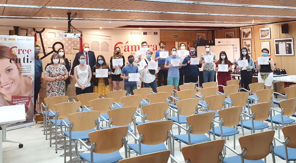 """20 jóvenes de  la comarca de Talavera de la Reina finalizan su formación PICE de """"Fabricación digital: Impresión en 3d"""""""