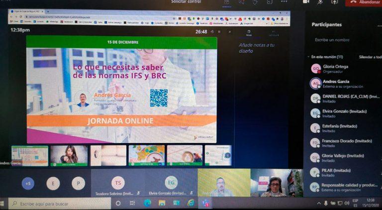 Cámara Toledo celebra un webinar sobre Normas de Seguridad Alimentaria