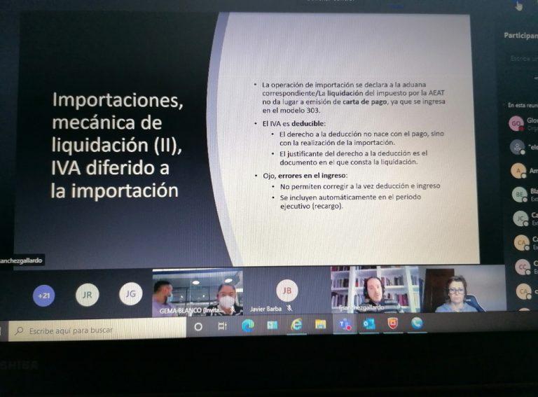 Gran éxito del taller brexit sobre las incidencias en la aplicación del IVA organizado por Cámara Toledo