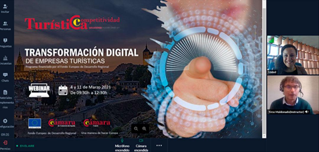 Finalizan los webinar sobre Transformación Digital que Cámara Toledo ha organizado para empresas del sector turístico.
