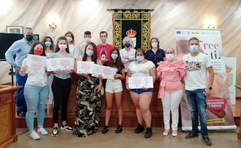 Finaliza el curso PICE de mantenimiento y conservación de jardines de la Puebla de Montalbán