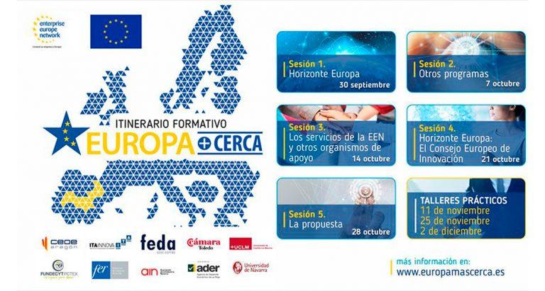 La Red ENTERPRISE EUROPE NETWORK ofrece el itinerario formativo EUROPA+CERCA sobre financiación europea y Horizonte Europa.